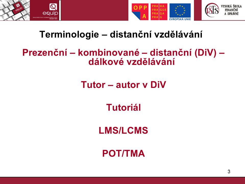 Terminologie – distanční vzdělávání