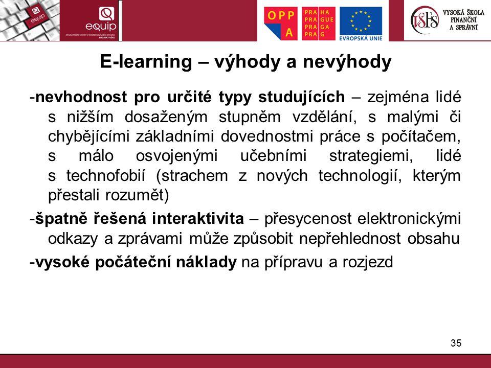 E-learning – výhody a nevýhody