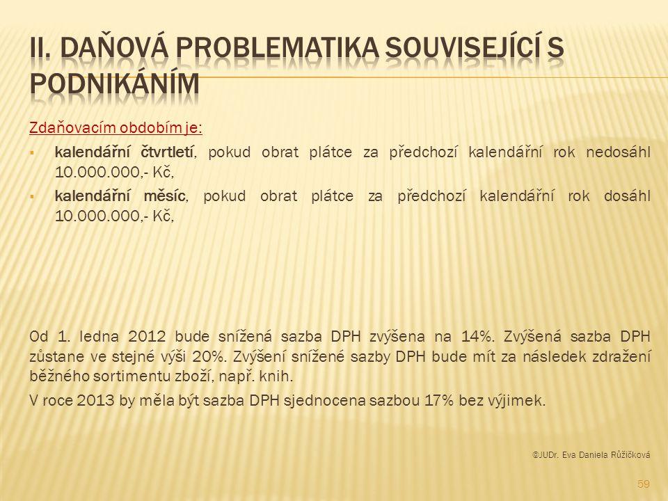 II. Daňová problematika související s podnikáním