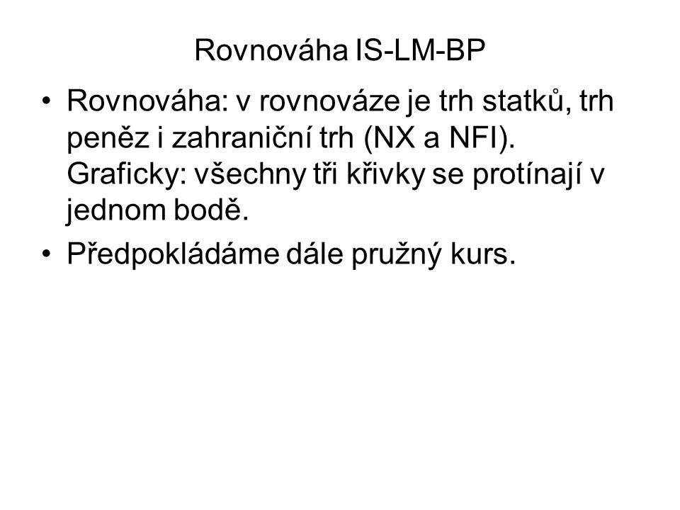 Rovnováha IS-LM-BP