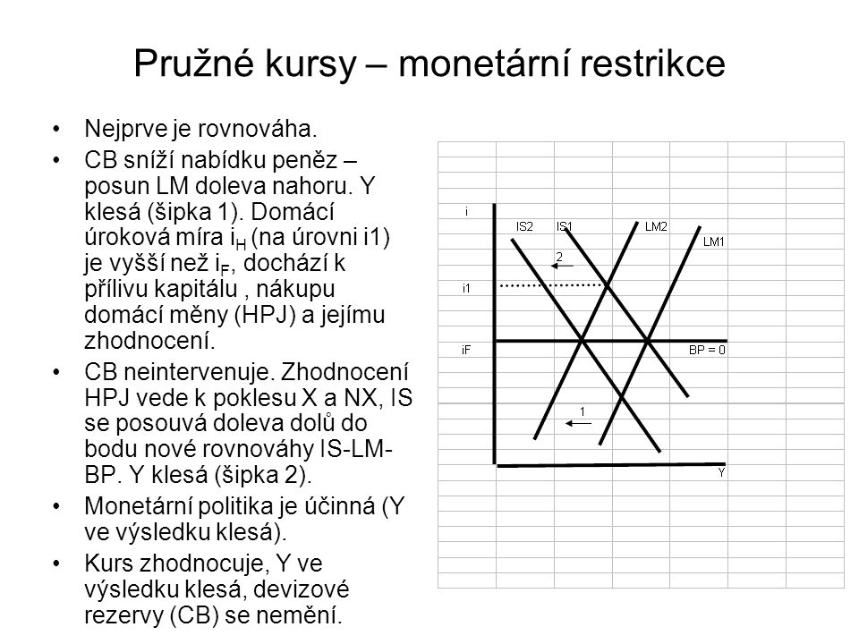 Pružné kursy – monetární restrikce