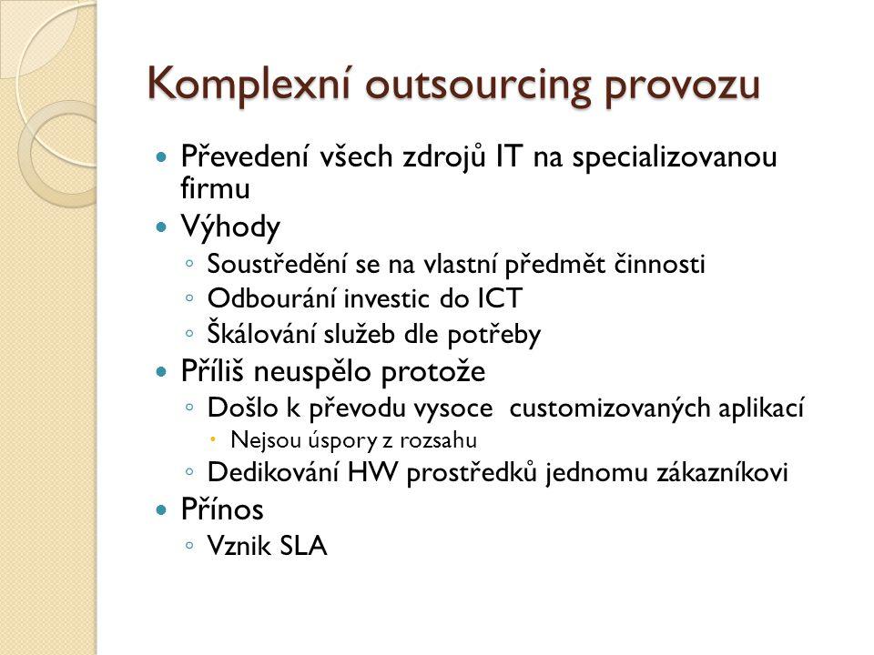 Komplexní outsourcing provozu