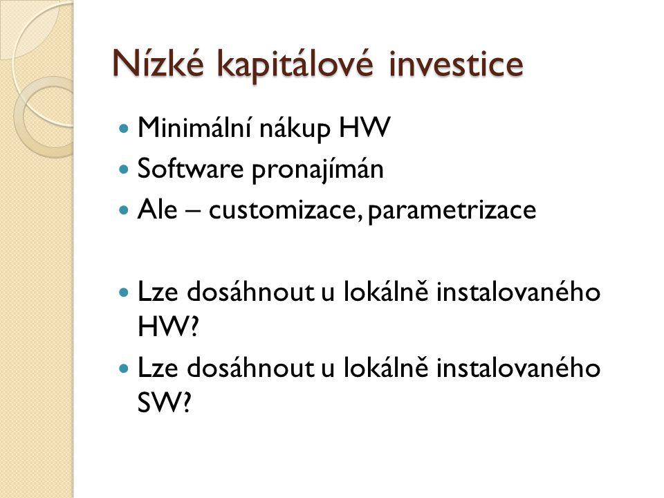 Nízké kapitálové investice