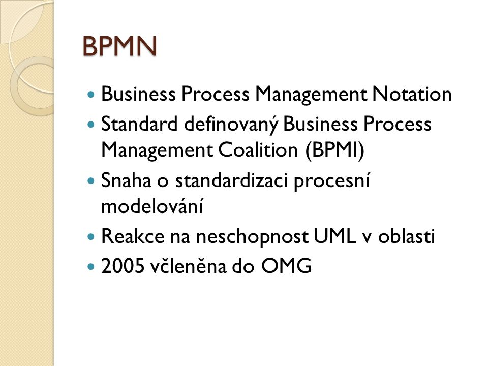 BPMN Business Process Management Notation