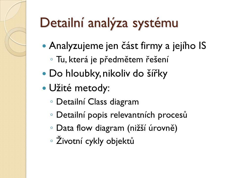 Detailní analýza systému