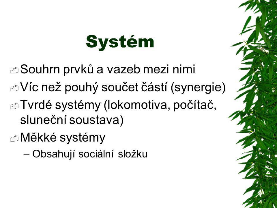 Systém Souhrn prvků a vazeb mezi nimi
