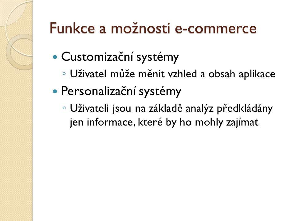Funkce a možnosti e-commerce