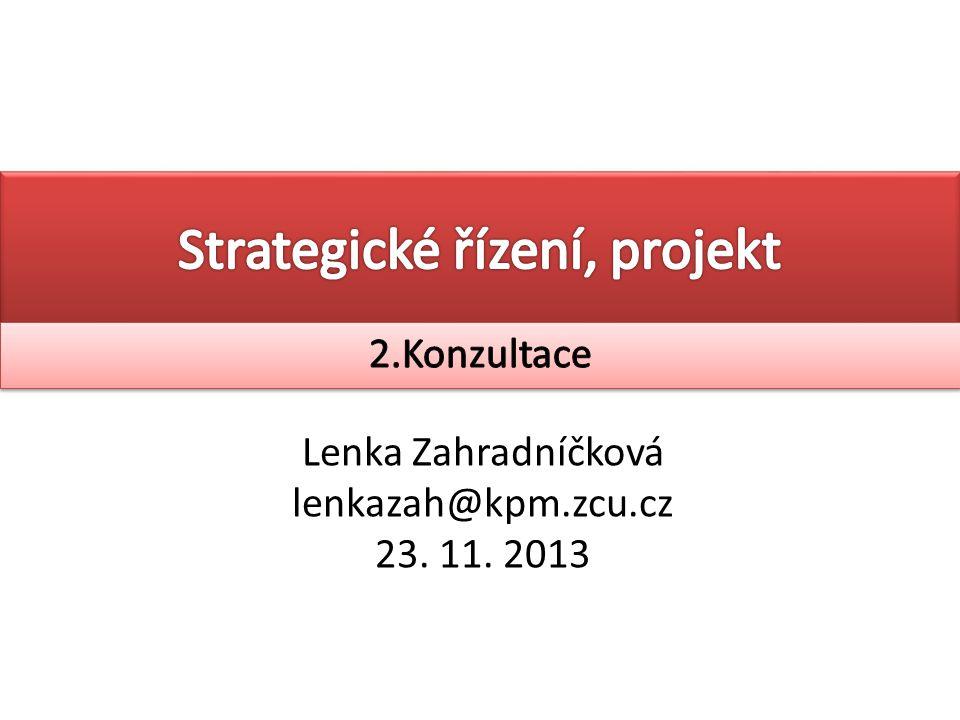 Strategické řízení, projekt