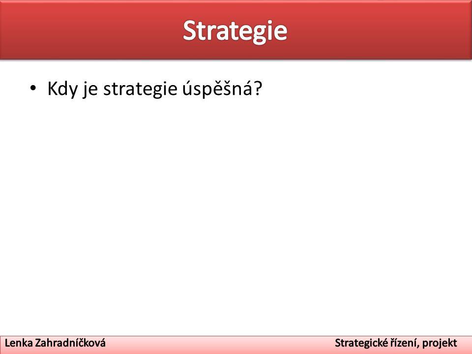 Strategie Kdy je strategie úspěšná