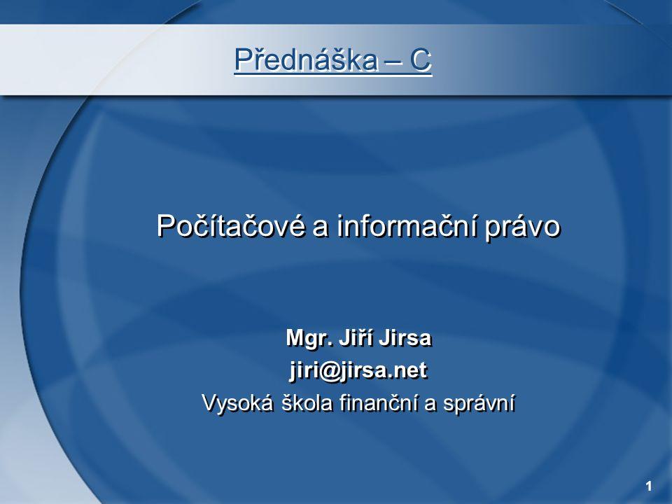 Počítačové a informační právo