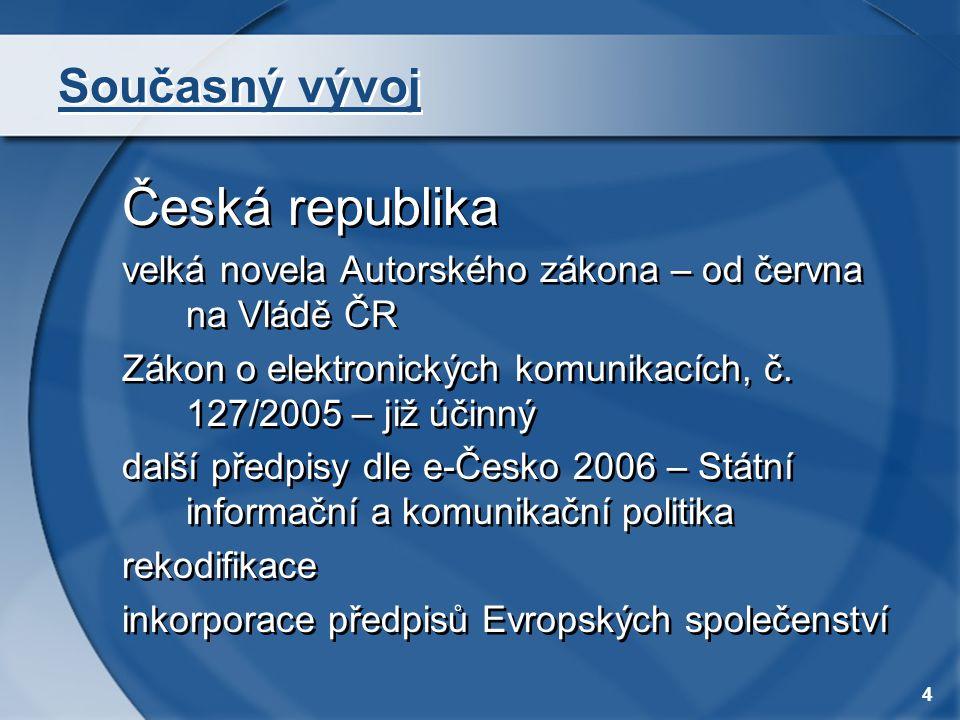 Česká republika Současný vývoj