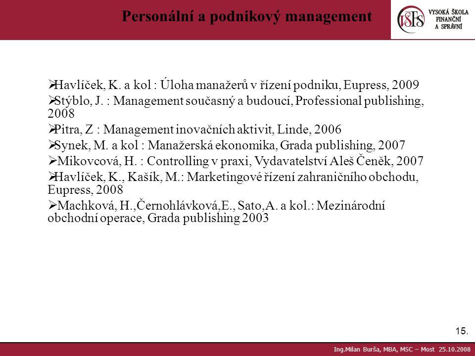 Personální a podnikový management