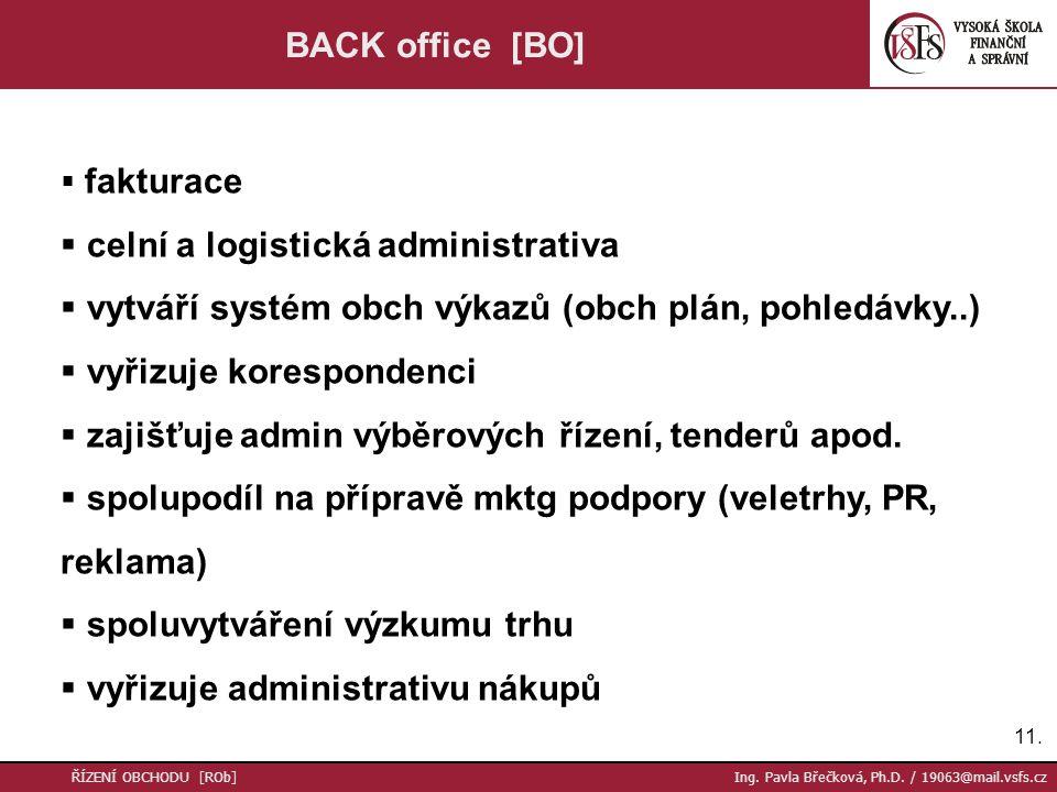 celní a logistická administrativa