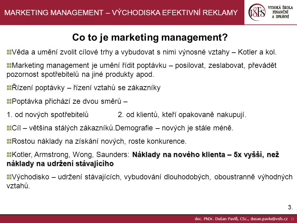 Co to je marketing management
