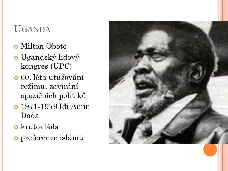 Uganda Milton Obote Ugandský lidový kongres (UPC)