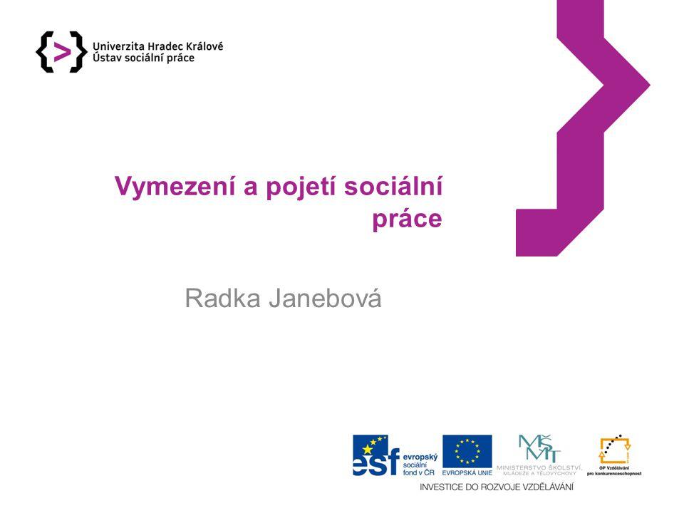 Vymezení a pojetí sociální práce
