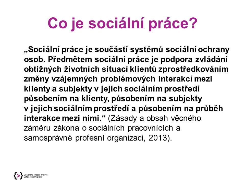 Co je sociální práce