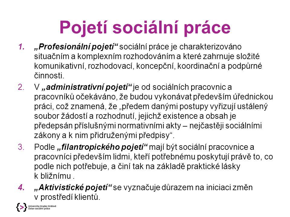 Pojetí sociální práce