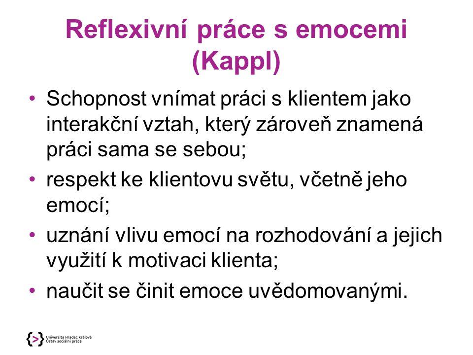 Reflexivní práce s emocemi (Kappl)