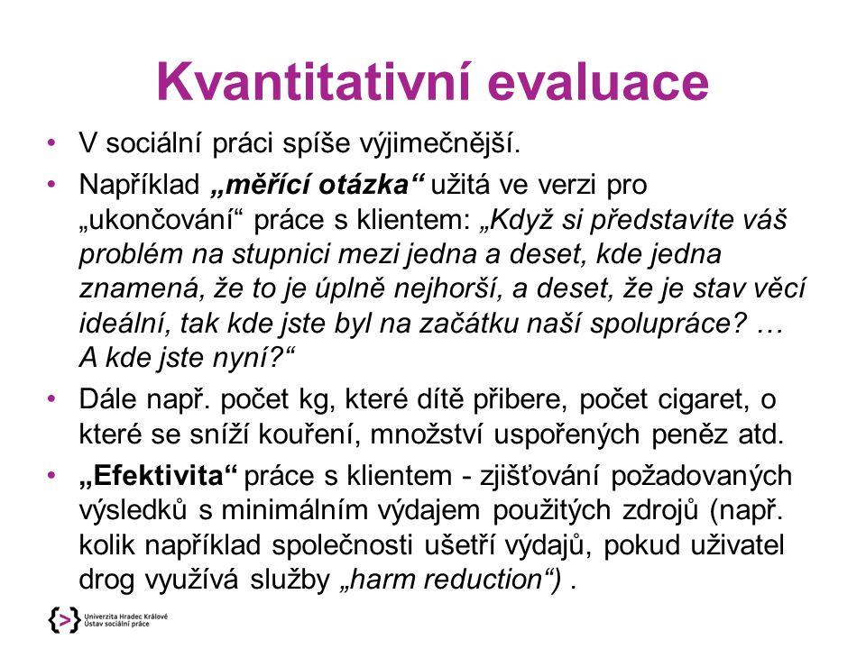 Kvantitativní evaluace