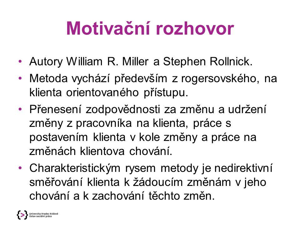 Motivační rozhovor Autory William R. Miller a Stephen Rollnick.