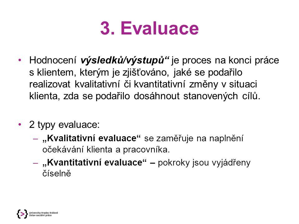 3. Evaluace