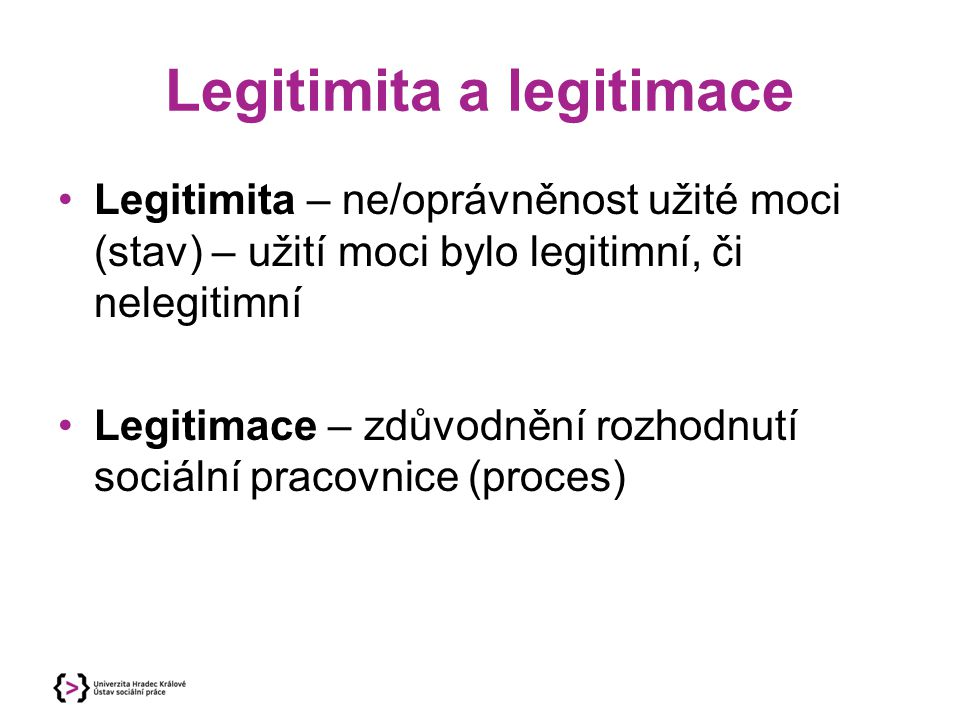 Legitimita a legitimace