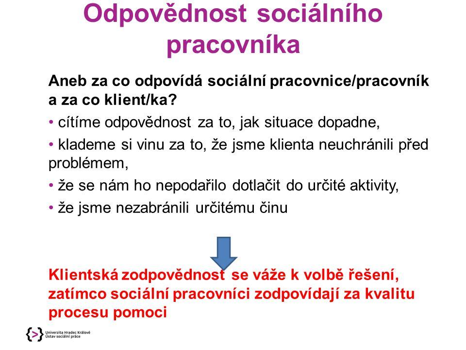 Odpovědnost sociálního pracovníka