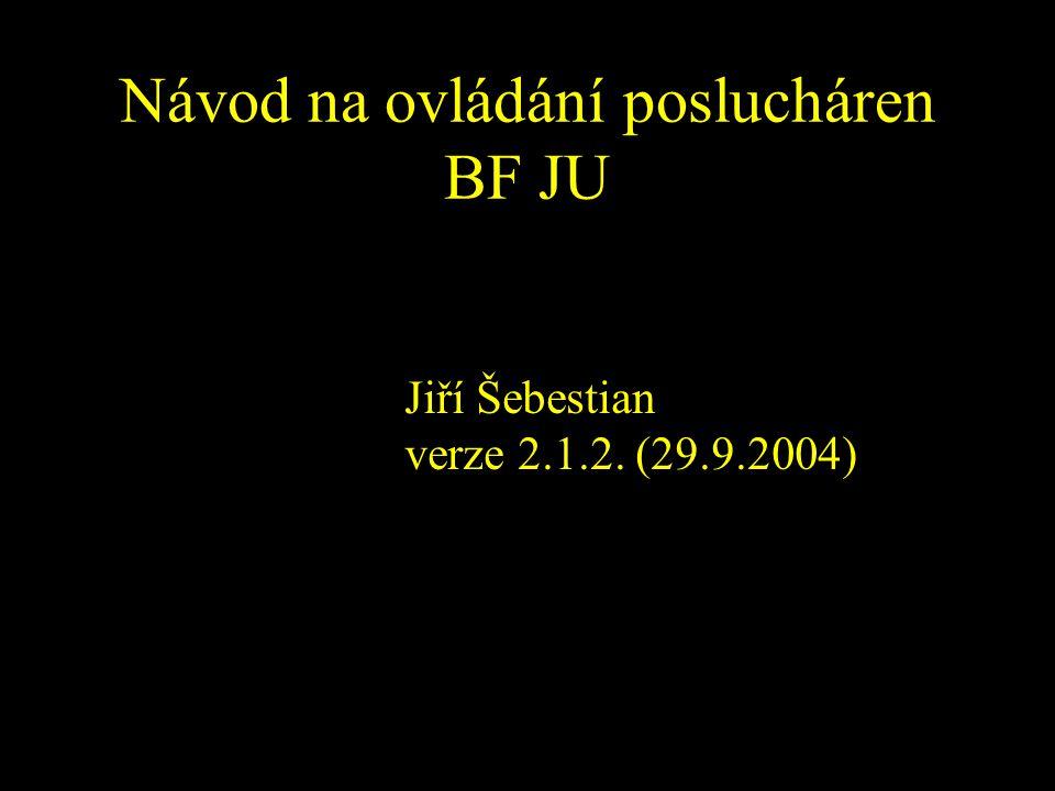 Návod na ovládání poslucháren BF JU