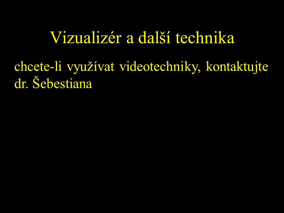 Vizualizér a další technika