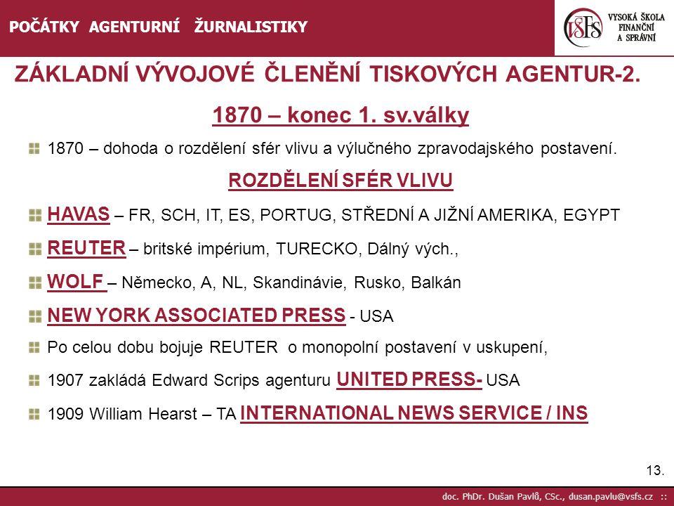 ZÁKLADNÍ VÝVOJOVÉ ČLENĚNÍ TISKOVÝCH AGENTUR-2.