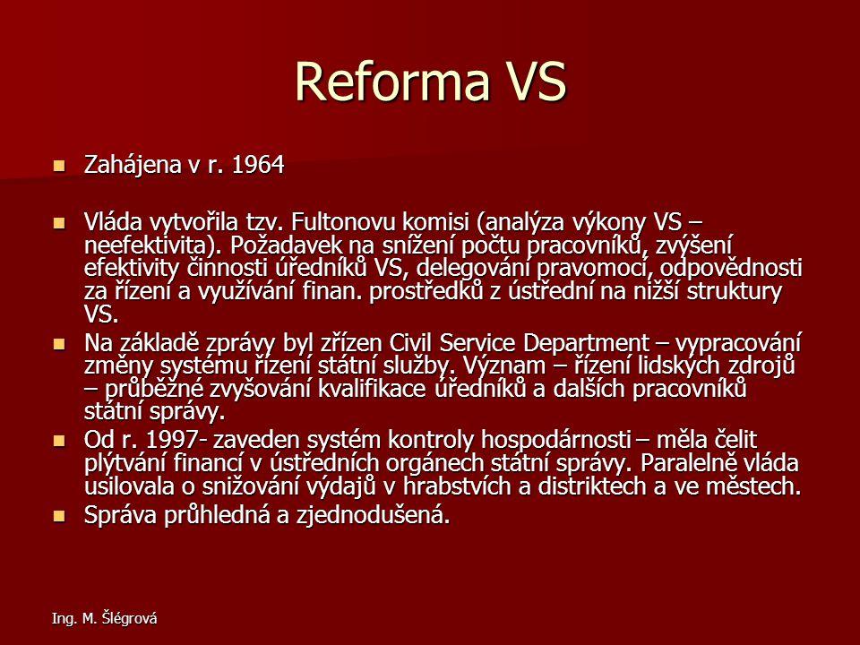 Reforma VS Zahájena v r. 1964.