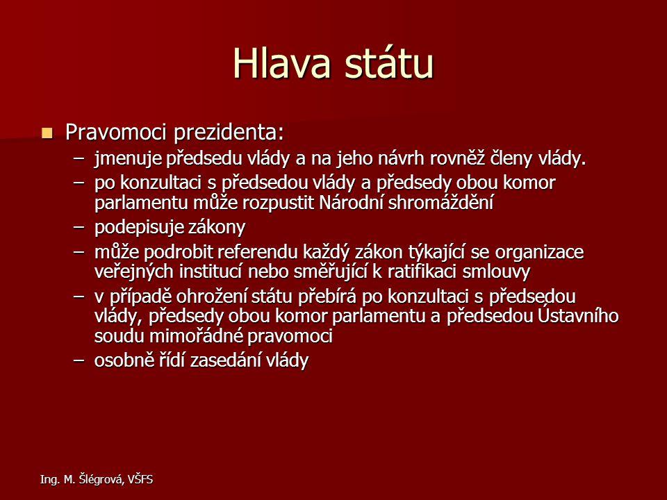 Hlava státu Pravomoci prezidenta:
