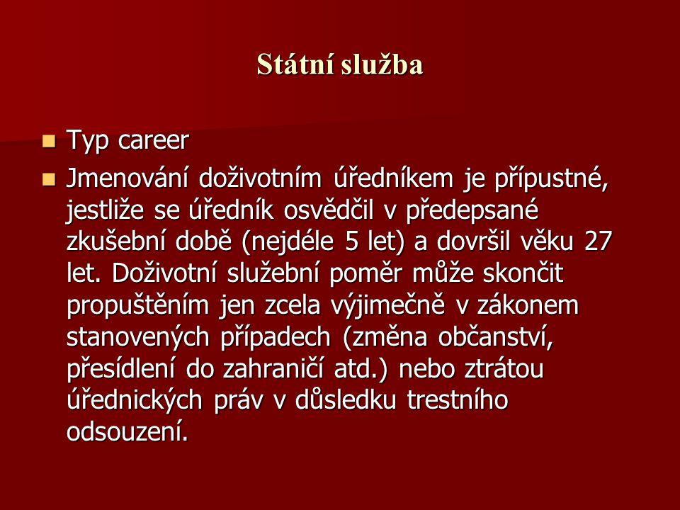 Státní služba Typ career