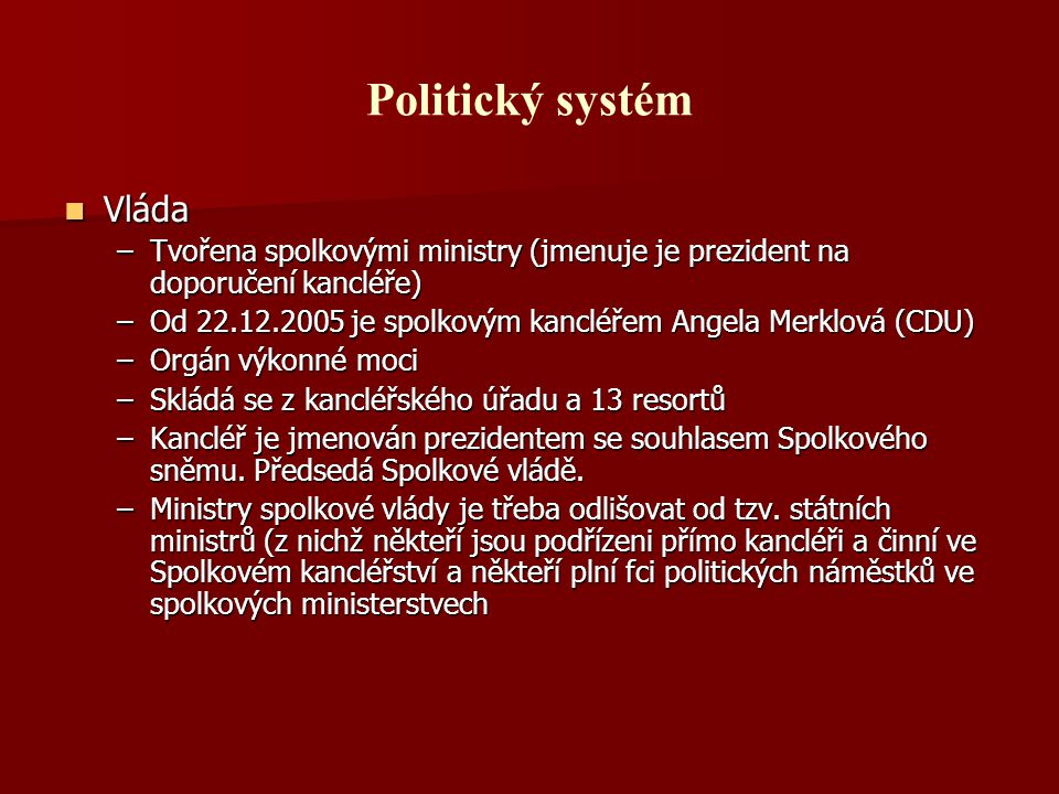 Politický systém Vláda