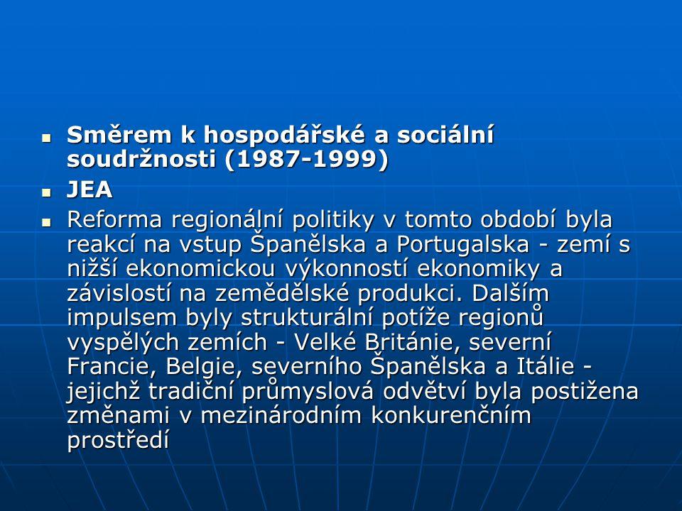 Směrem k hospodářské a sociální soudržnosti (1987-1999)