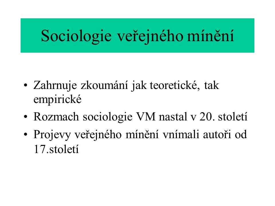 Sociologie veřejného mínění