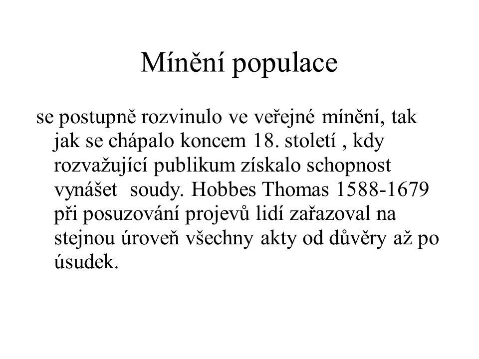Mínění populace