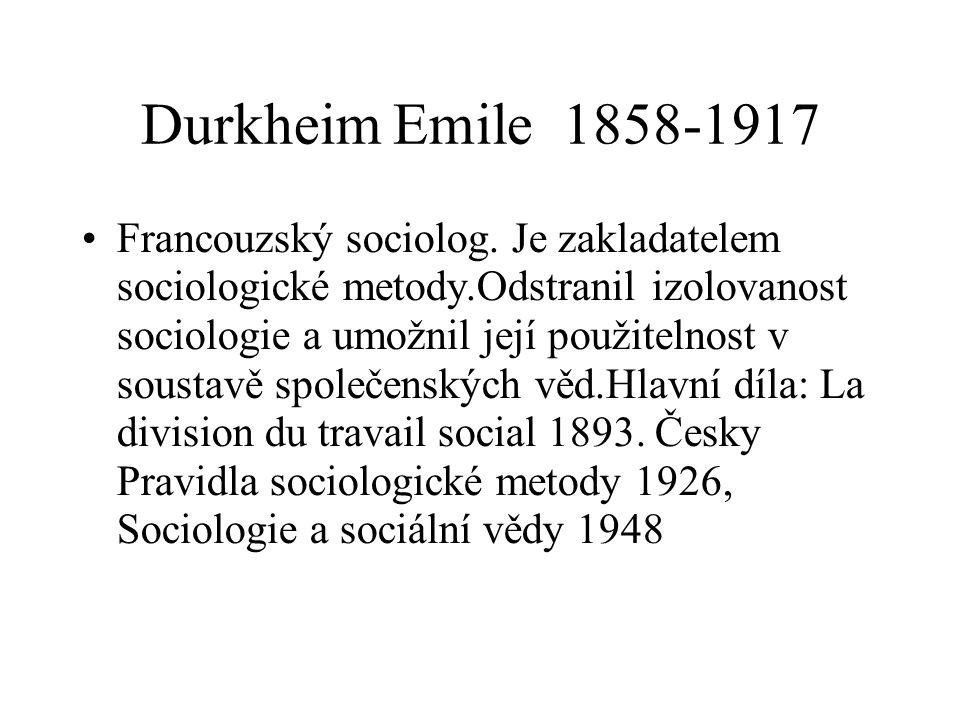 Durkheim Emile 1858-1917