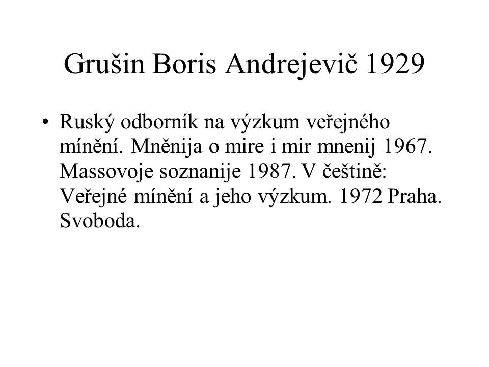 Grušin Boris Andrejevič 1929