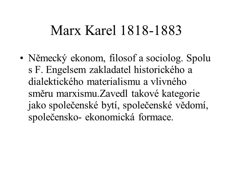 Marx Karel 1818-1883
