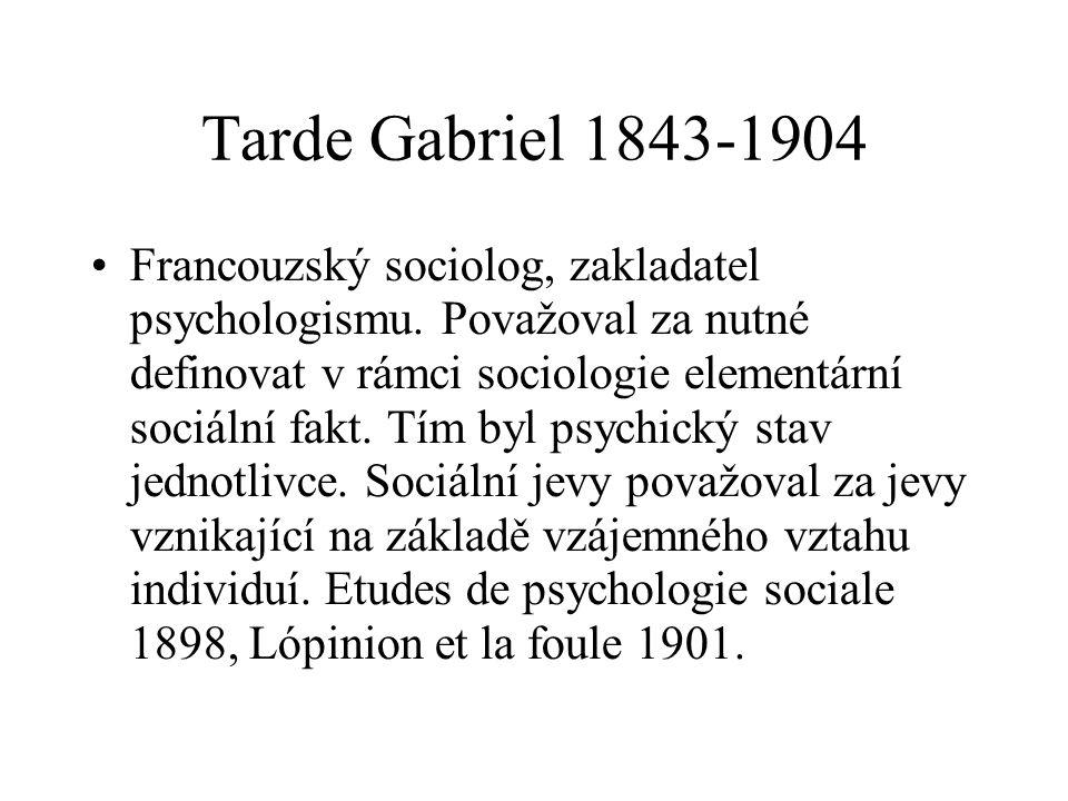 Tarde Gabriel 1843-1904