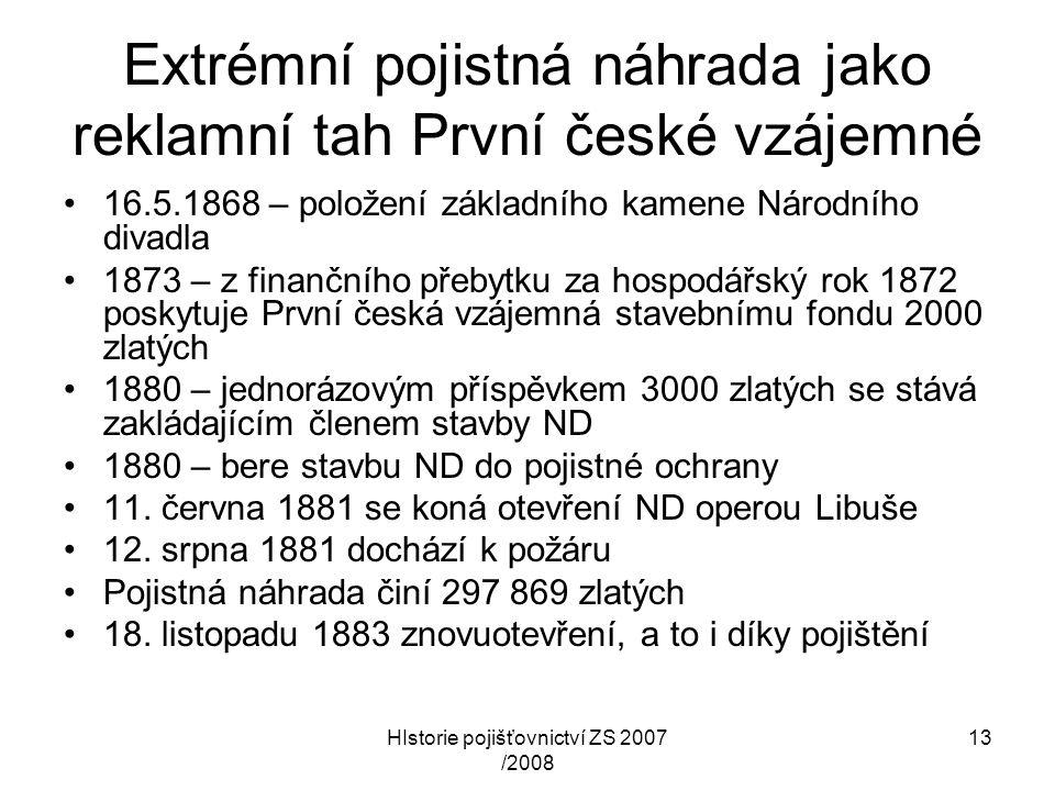 Extrémní pojistná náhrada jako reklamní tah První české vzájemné