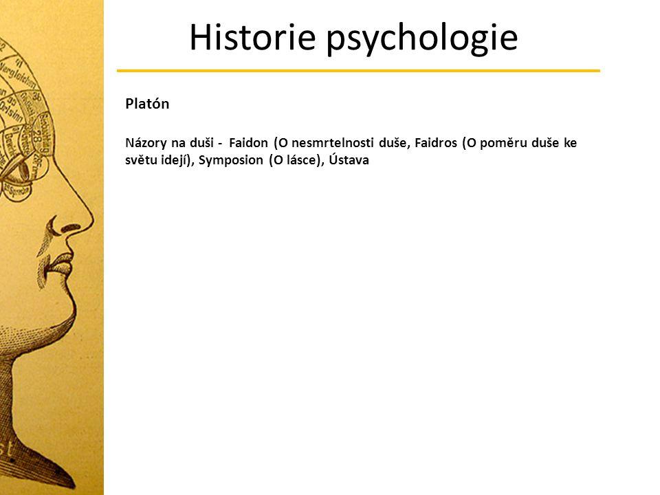 Historie psychologie Platón