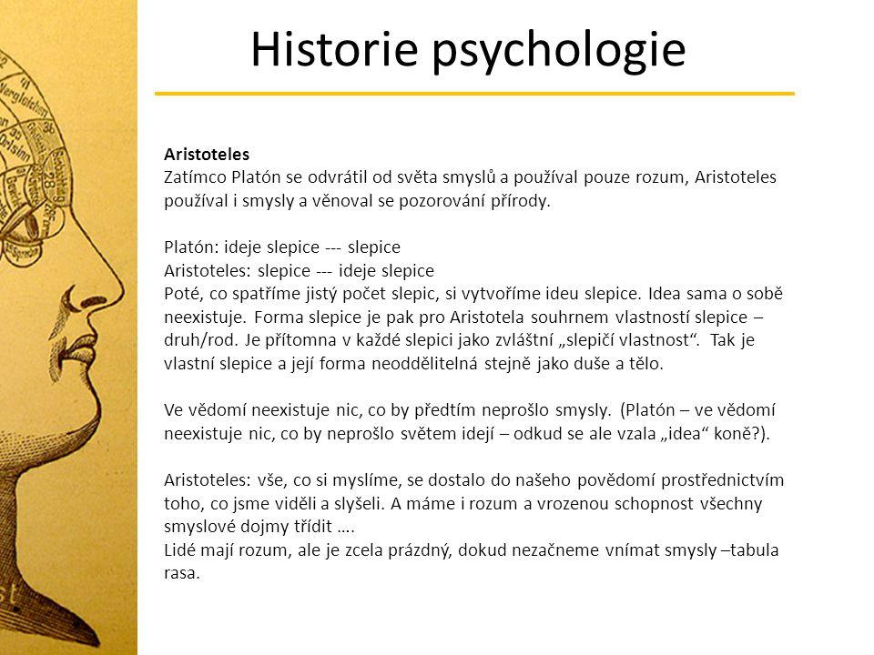 Historie psychologie Aristoteles