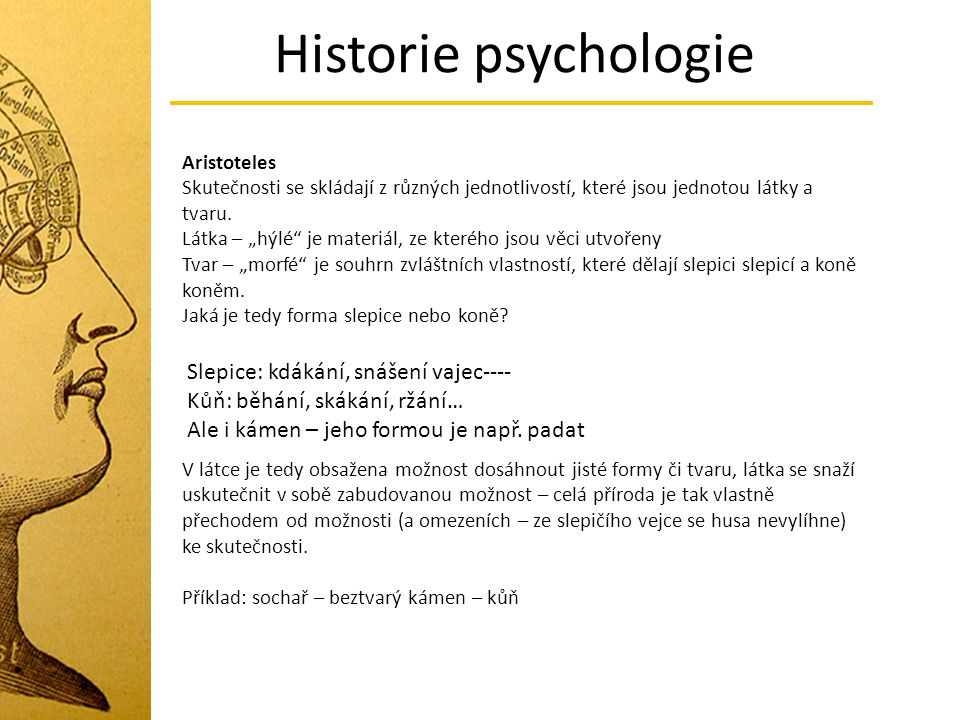 Historie psychologie Slepice: kdákání, snášení vajec----