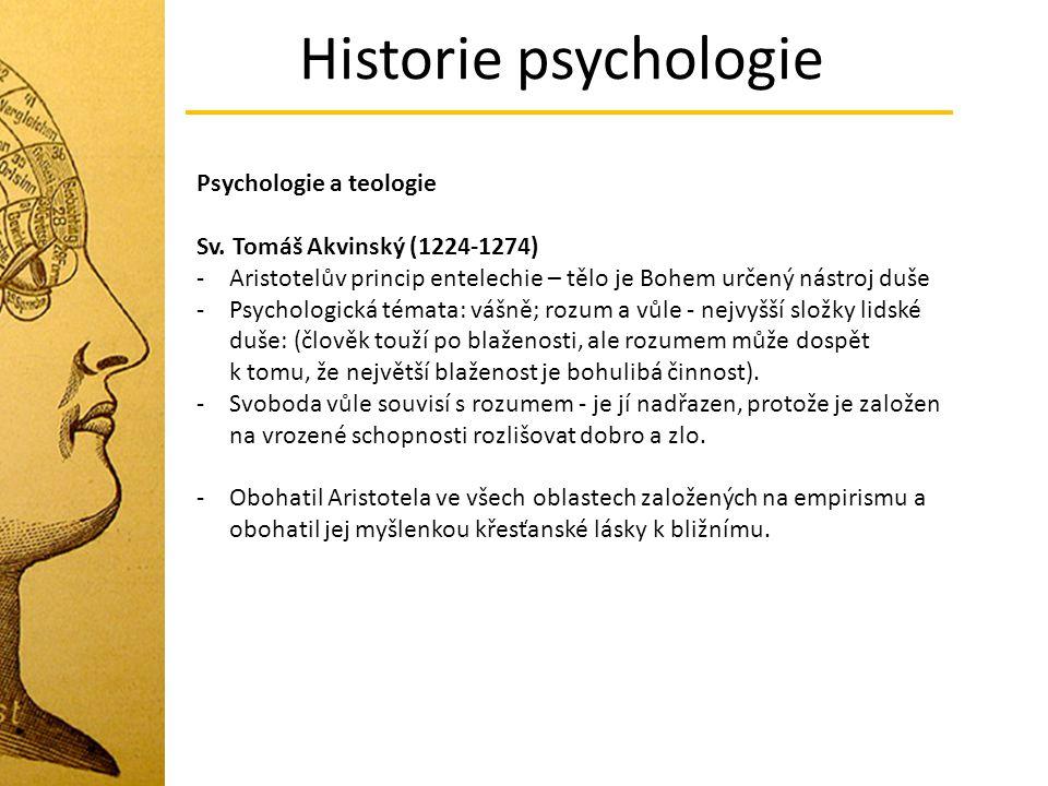 Historie psychologie Psychologie a teologie