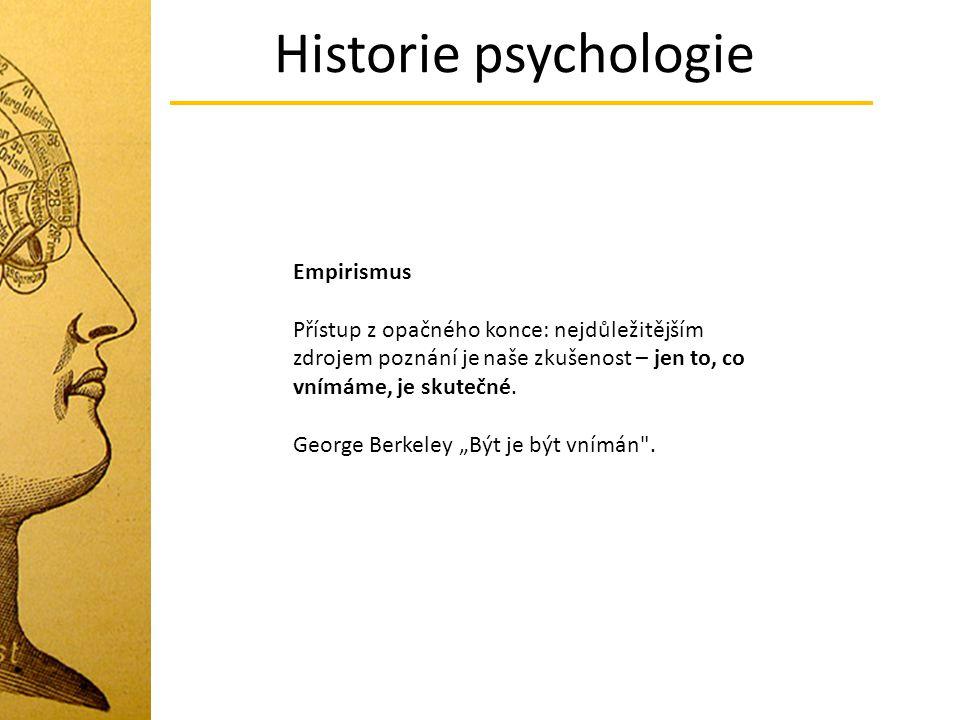 Historie psychologie Empirismus