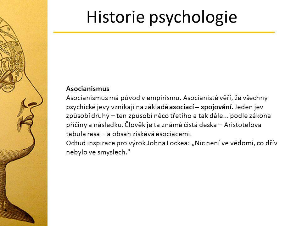 Historie psychologie Asocianismus