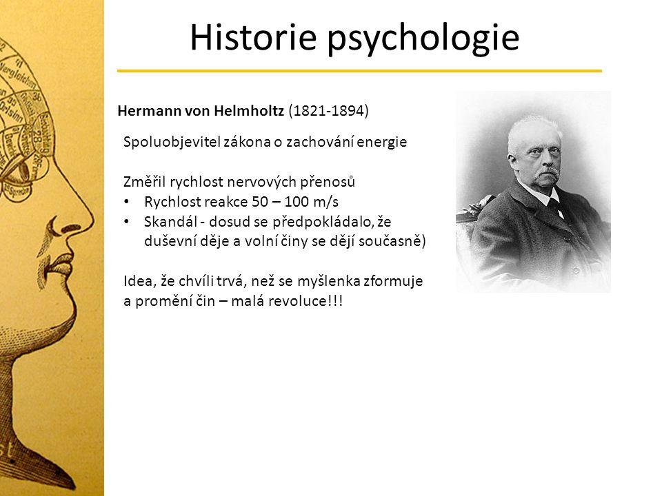 Historie psychologie Hermann von Helmholtz (1821-1894)